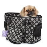 View Image 1 of East Side Collection Soho Peace Sign Dog Carrier