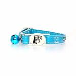 View Image 2 of Sparkle Gemstone Cat Collar - Blue