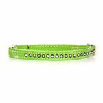 View Image 1 of Sparkle Gemstone Cat Collar - Parrot Green