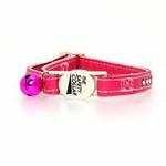 View Image 2 of Sparkle Gemstone Cat Collar - Raspberry