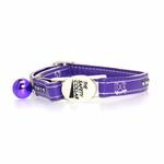 View Image 2 of Sparkle Gemstone Cat Collar - Ultra Violet