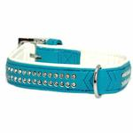View Image 3 of Sparkle Gemstone Dog Collar - Bluebird