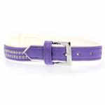 View Image 2 of Sparkle Gemstone Dog Collar - Ultra Violet