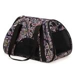 View Image 4 of Stowaway Pet Carrier - Black Paisley