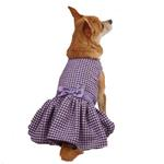 View Image 2 of East Side Collection Teatime Dog Dress - Purple