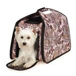 View Image 2 of Ultimate Tent Pet Carrier - Pink Paisley