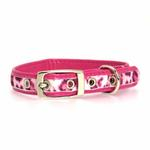 View Image 2 of Vibrant Leopard Dog Collar - Raspberry