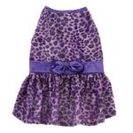 View Image 2 of Vibrant Leopard Dog Dress - Ultra Violet