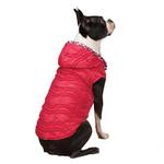 View Image 1 of Vibrant Leopard Dog Vest - Raspberry
