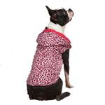 View Image 2 of Vibrant Leopard Dog Vest - Raspberry