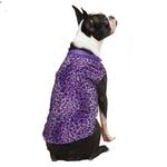 View Image 2 of Vibrant Leopard Dog Vest - Ultra Violet