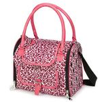 View Image 3 of Vibrant Leopard Pet Carrier - Raspberry