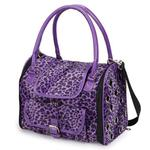 View Image 2 of Vibrant Leopard Pet Carrier - Ultra Violet