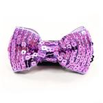 View Image 2 of EasyBOW Sequins Dog Collar Attachment by Dogo - Purple