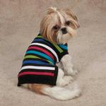 View Image 2 of Electric Knit Dog Sweater - Stripes