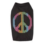 View Image 1 of Electric Peace Sign Dog Tank Top - Black
