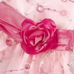 View Image 3 of Elegance Rosette Dog Dress by East Side Collection - Pink