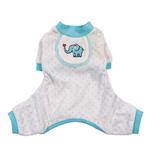 View Image 1 of Elephant Dog Pajamas - Blue