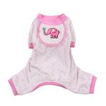 View Image 1 of Elephant Dog Pajamas - Pink