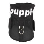 View Image 4 of Elite Hooded Mesh Dog Harness by Puppia - Black