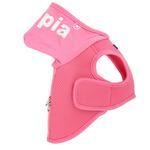 View Image 2 of Elite Hooded Mesh Dog Harness by Puppia - Pink
