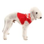 View Image 1 of Elite Hooded Mesh Dog Harness by Puppia - Red