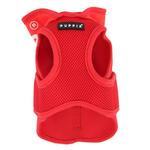 View Image 3 of Elite Hooded Mesh Dog Harness by Puppia - Red