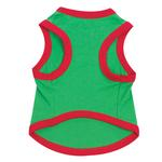 View Image 2 of Embroidered Santa Pullover Tee 'Dear Santa, Define Naughty' - Green