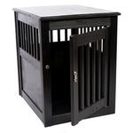 View Image 1 of End Table Dog Crate - Black