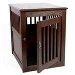 View Image 1 of End Table Dog Crate - Mahogany