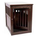 View Image 4 of End Table Dog Crate - Mahogany