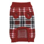 View Image 2 of English Plaid Sweater by Zack & Zoey - Red