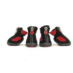 View Image 1 of Epiks Dog Boots by Gooby - Black/Red
