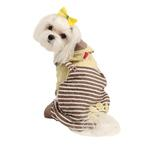 View Image 1 of Euphoria Dog Hooded Jumpsuit by Pinkaholic - Brown