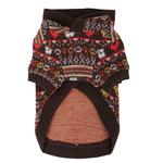 View Image 2 of Express Dog Hoodie by Puppia - Brown