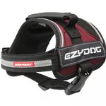 View Image 3 of EzyDog Convert Dog Harness - Burgundy