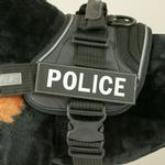 EzyDog Convert Harness Custom Side Patches - Police