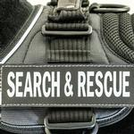 EzyDog Convert Harness Custom Side Patches - Search & Rescue