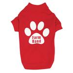 View Image 3 of Farm Hand Dog T-Shirt by Zack & Zoey - Red