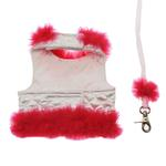 View Image 2 of Fashion Diva Dog Harness - White & Hot Pink