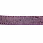 View Image 3 of Faux Crocodile Dog Leash- Purple