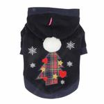 View Image 1 of Festive Holiday Dog Hoodie by Pinkaholic- Navy