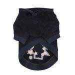 View Image 3 of Festive Holiday Dog Hoodie by Pinkaholic- Navy