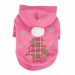 View Image 1 of Festive Holiday Dog Hoodie by Pinkaholic- Pink