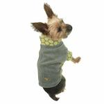 View Image 4 of Fido Fleece Dotted Bliss Dog Coat