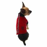 View Image 2 of Fido Fleece Rolling Bones Dog Coat