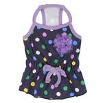 View Image 3 of Fiesta Dot Dog Dress by Puppia - Violet