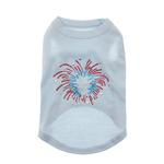 Fireworks Rhinestone Dog Tank Top - Baby Blue
