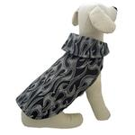 View Image 1 of Flames Dog Raincoat - Black