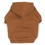 Fleece Lined Dog Hoodie by Zack & Zoey - Brown